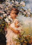 Peinture-Femme-fleurs