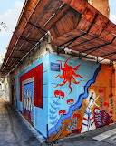 Crete Heraklion street graffiti