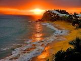 Antigua barbuda sunset beach