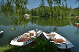 Boats, river, sea, trees, landscape, nature, Italy, Umbria, Tern