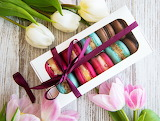 Colorful macaroons, macarons