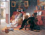 Family Scene~ José Ferraz de Almeida Júnior