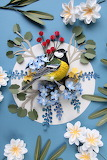 Paper bird sculpture - Diana Herrera