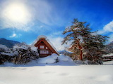 A Frame Home in the Winter Mountains