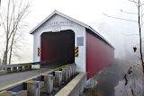 Rexleigh Covered Bridge in Fog Cambridge New York USA