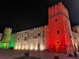 Alcamo-castello-conti-modica-illumina-tricolore