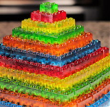 #Gummy Lego Stackable Jello Candy