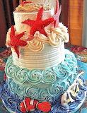 Starfish swirly cake @ Blakey Cakes