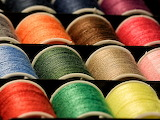 Thread colorful coil