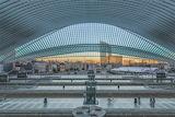 Belgian Liège-Guillemins train station hub