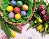 Easter egg-candles