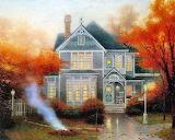 Burning Leaves~ Kinkade