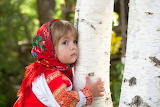 Kid, child, dress, girl, outfit, Russia, birch, grove, red, tree
