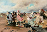 Sunday at the Seaside~ Georges Jules Victor Clairin