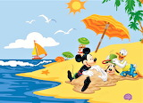 #Mickey and Friends Playing on the Beach