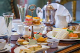 ^ Champagne Afternoon Tea at the 5 Bentley Hotel, London
