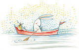 Bunny on boat, Mary Lundquist