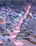 Winter night Gifu Japan.