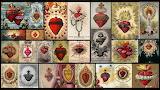 Sacred heart-Jesus Christ-religion-collage-artwork-heart