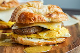 ^ Sausage Egg and Cheese Croissant with Maple Dijon Sauce