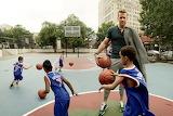 Children, sport, balls, actor, Ryan Reynolds, basketball, playgr