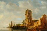 River Scene with Tower by Circle of Anthony Jansz van der Croos