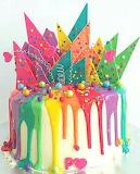Rainbow drip cake by Jordyn Burne