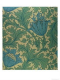 Art Deco Flower blue and green