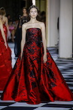 Elegant Red & Black Evening Gown