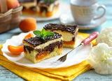 Apricot chocolate vanilla marble cake