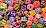 Colorful Balls of Ribbon