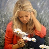 Painting-blonde Girl-