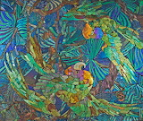 Mosaic panel with parrots, Tiffany Studios 1910, (c) CMOG
