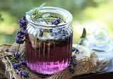 healthy food-lavender drink