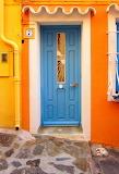Various small 113 blue door