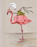 Flamingo & Frog