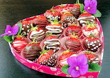 Valentine Strawberries and Chocolate