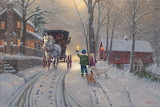 winter evening ride