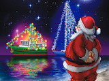 Santa and the Sailing Boats