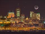 Moon quebec city canada