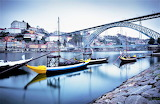 Boats river old town Porto Portugal