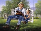 Grandpa and child