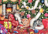 Debbie Cook 'Cats and Baubles'