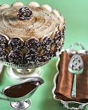 Coffee and doughnuts cake