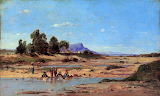Washerwomen in Luberon 1869 by Paul Guigou
