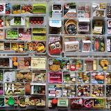 Asiatische Miniatur-Lebensmittel