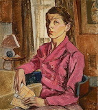 Paraskeva Clark, Self-portrait with Concert Program, 1942