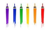 Colorful paints rainbow paints 001002