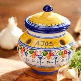 Ceramic garlic jar