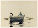 W.  Homer, Two Girls in a Rowboat, 1876–80